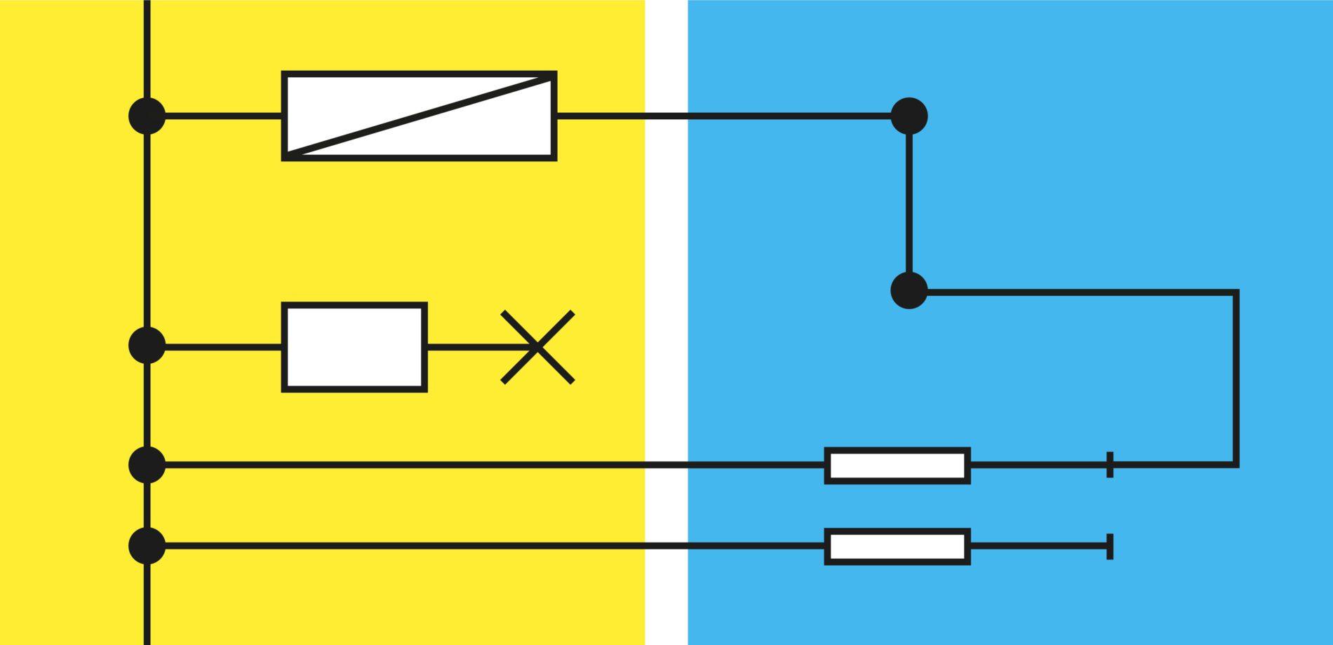 Grafisch systeem in werking.