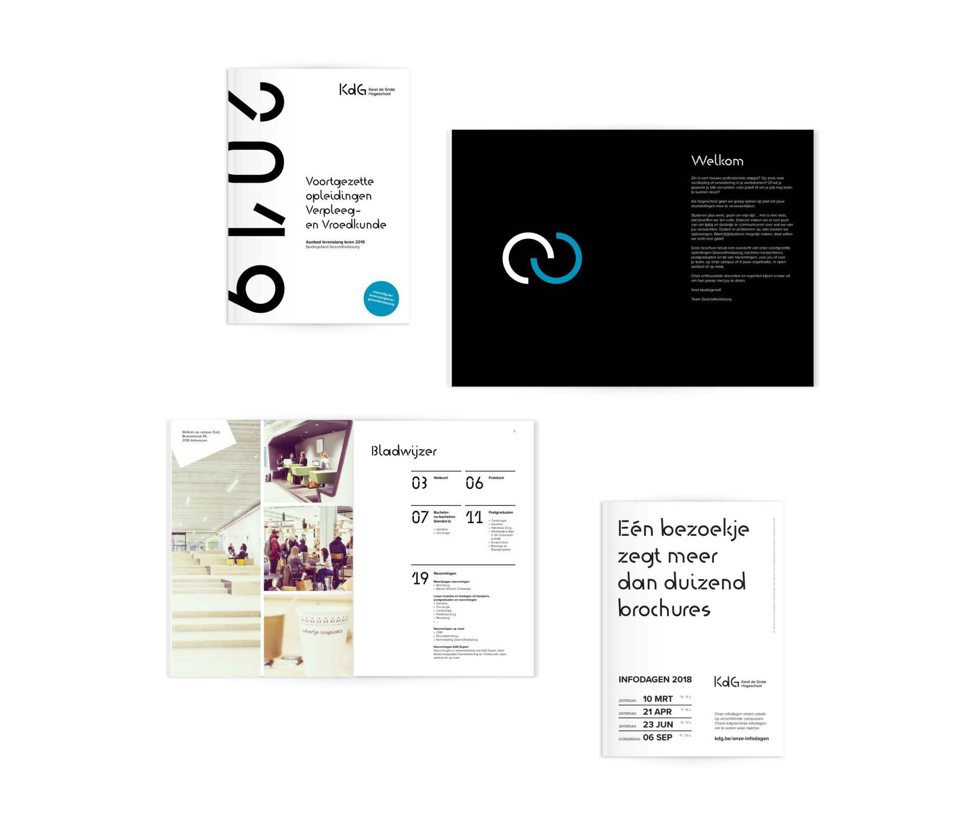 De brochure geeft een overzicht van de verschillende KdG opleidingen.