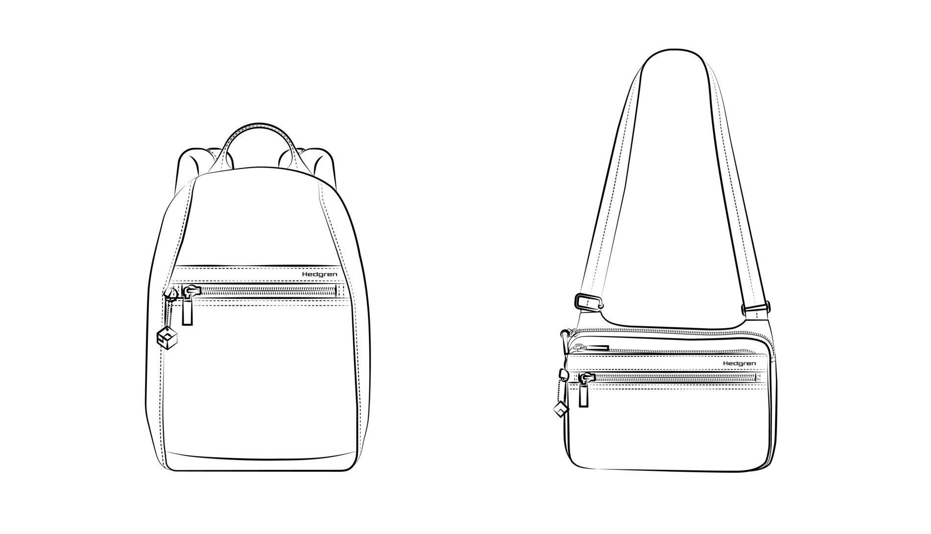 Illustratie van tassen