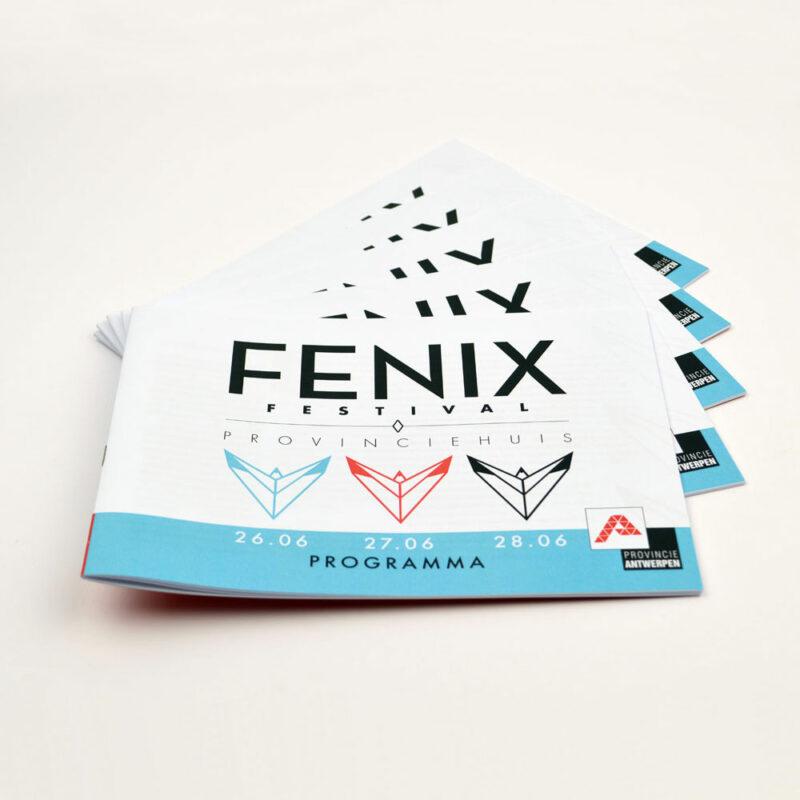 grafische vormgeving van een programmaboekje