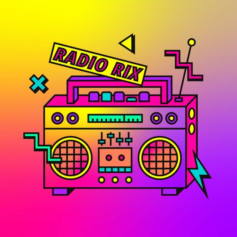 Ontwerp van een visuele identiteit voor een reeks podcasts en radio.